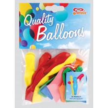Novelty Balloons Asst Shapes/Cols Pack 8
