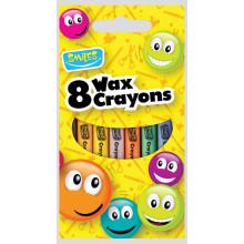 Smiles 8 Standard Wax Crayons