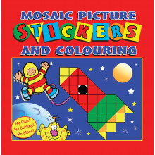 Mosaic Sticker Book 4 Asstd 20 Pages