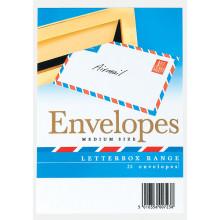 S1606 Envelopes L/box White Med Airmail