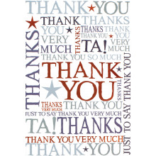 Thank You Cards Text IW307