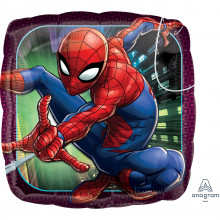 "Foil Balloons Spiderman Pillow 18"""