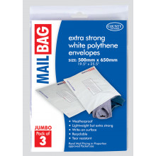 Pack 3 Jumbo Poly Mail Bag 500x650mm