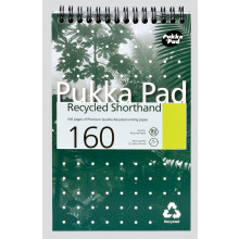 Pukka Recycled Shorthand Notepad 160pgs