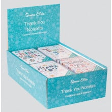 Box 8 Thank You Notelet Bright Text N621