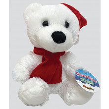 15cm Plush Christmas Bear