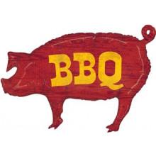 """BBQ Pig Foil Balloon 35"""" Shape"""