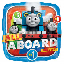 """Foil Balloons Thomas All Aboard 18"""""""