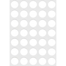 White Self Adhesive Labels 13mm Round