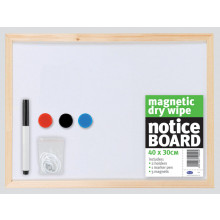 Magnetic Dry Wipe Notice Board 40x30cm