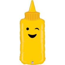 """Mustard Bottle Foil Balloon 35"""" Shape"""