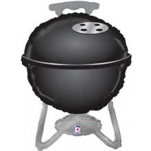"BBQ Black Grill Foil Balloon 32"" Shape"