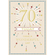 Greetings Cards 70th Male