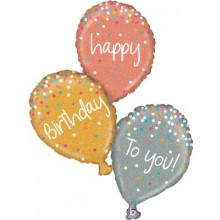 """Birthday Balloons Foil Balloon 40"""" Shape"""