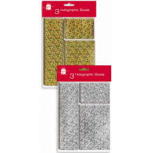 SP0330 Holo Gift Boxes 3's Gold/Silver