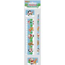 4 Piece Christmas Stationery Set