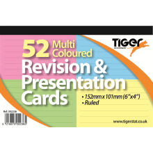 "Col'd Revision/Presentation Cards 6""x4"""