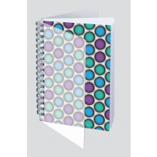 A5 Polyprop Abstract Wiro Notebook