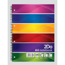 A4 2Do Twinwire Notebook 200 Pages