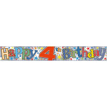 2.5m Party Banner Age 4 Boy