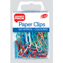Coloured Paper Clips Handy Pack
