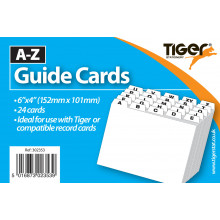 "A-Z Record Guide Card Set 6""x4"""