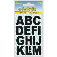 Labels - Black Vinyl Letters 24mm