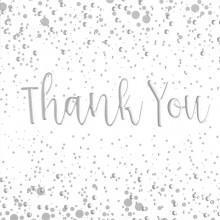 6 Thank You Cards Bubbles & Envelopes