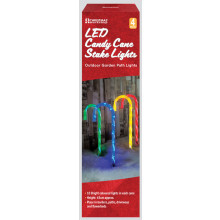 4Pc Cane Stick Stake Lights