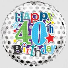 Foil Balloon Age 40 Male