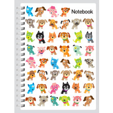 A5 Notebook Cats & Dogs 144 Pages