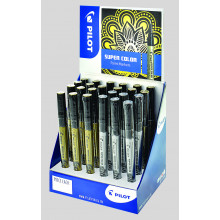 Pilot Gold & Silver Extra Fine Paint Marker Display