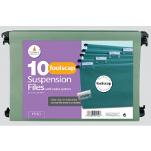 Foolscap Suspension Files 10 Pack