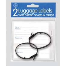 Luggage Labels with Covers/Straps