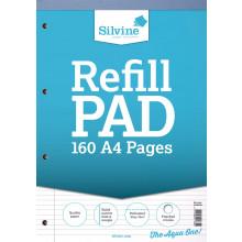 Silvine A4 Refill Pad N/Ft/Marg 160pgs