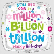 1 in Million Square Foil Balloon