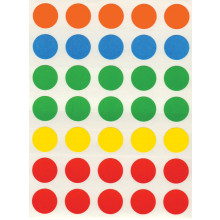 Coloured Self Adhesive Labels 13mm Round