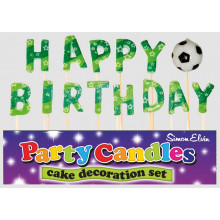 Happy Birthday Football Pick Candles