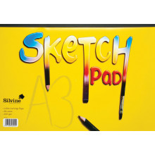 Silvine A3 Sketch Pad 16 Pages 100gsm