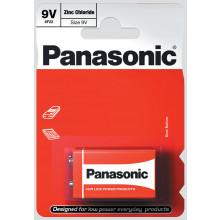 Panasonic 9V Zinc Carbon Batteries Pk 1
