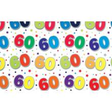 Flat Gift Wrap Sheets Age 60