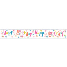 2.5m Party Banner Birthday Female