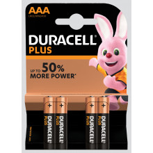 Duracell Plus AAA Batteries Pack 4
