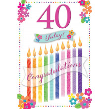 Greetings Cards 40th Female
