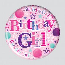 Birthday Girl 150mm Large Badge