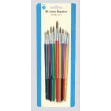 Artist Brushes Card 10 Assorted