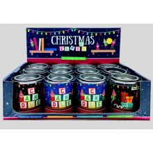 Scented Candle In Tin Asst