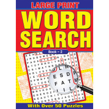 A4 Large Print Wordsearch Book 64p 4 Ast