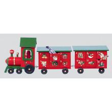 X1605 44cm Wooden Advent Train