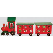 XD01505 Wooden Advent Train 45cm